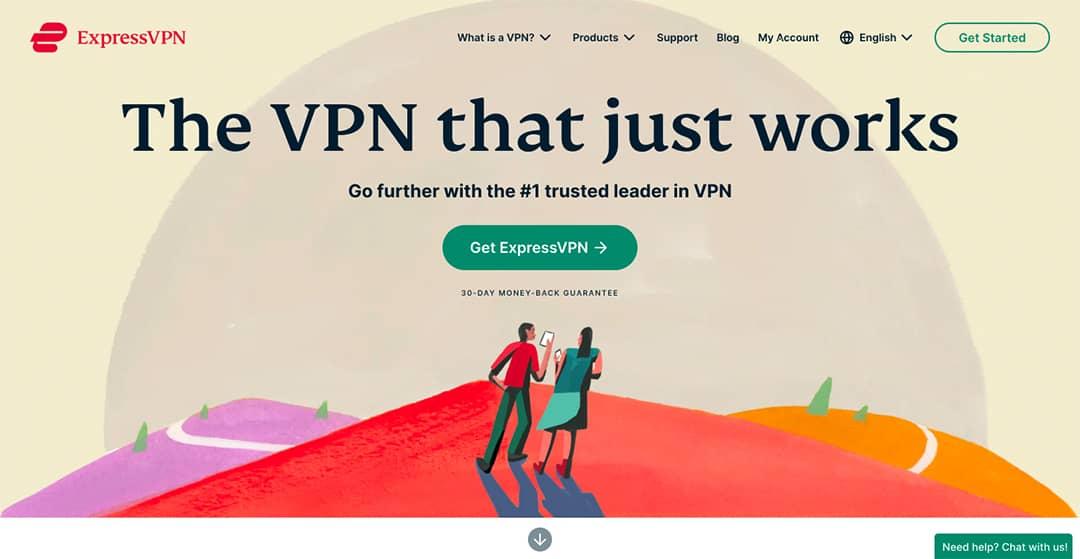 Express VPN Homepage