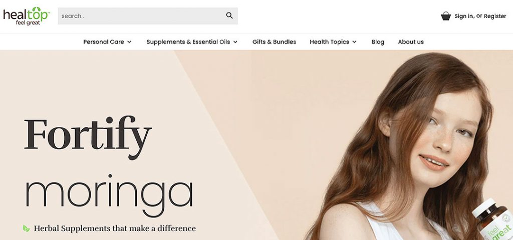 Healtop Homepage