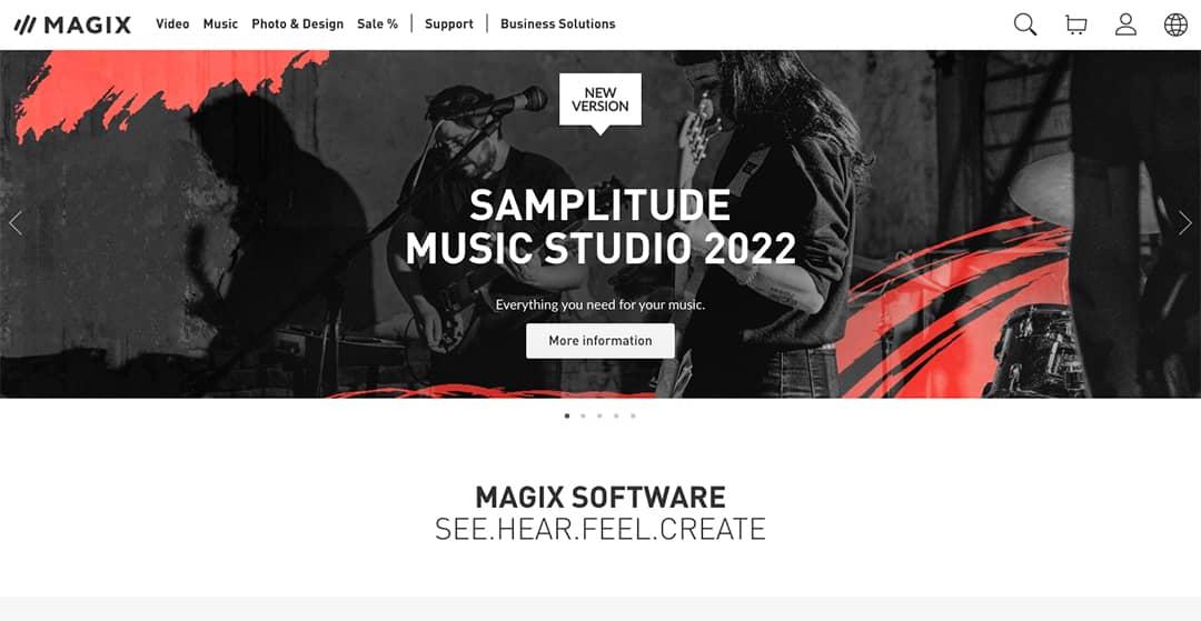 Magix Homepage