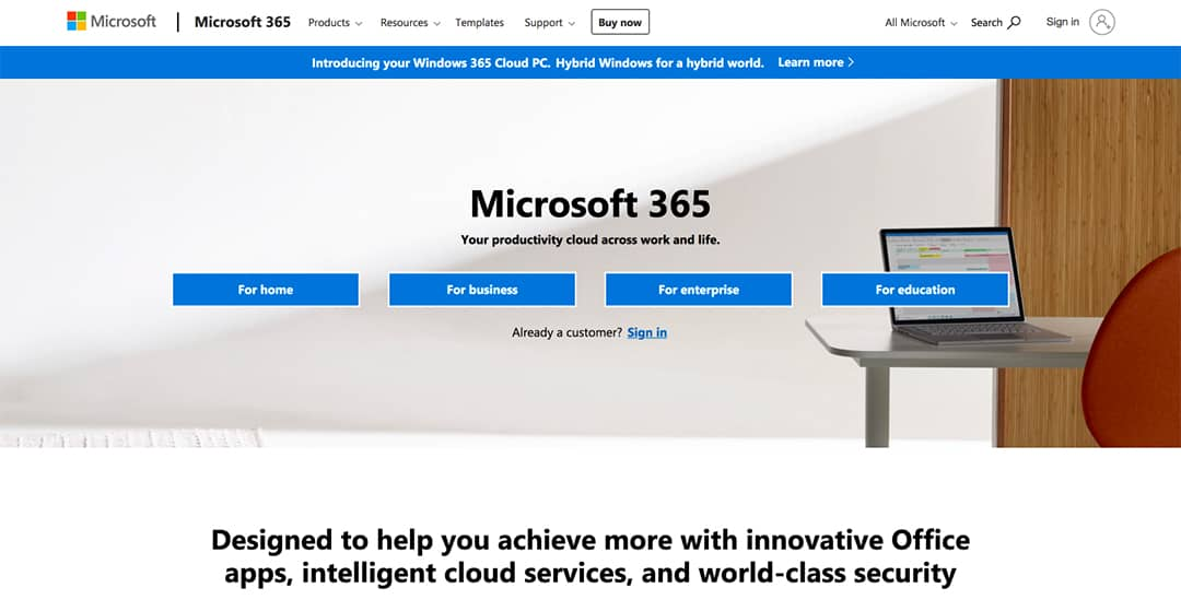 Microsoft Office 365 Homepage