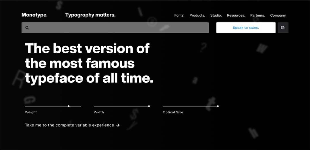 Monotype Homepage