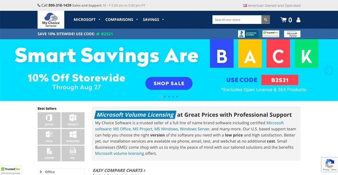 My Choice Software Homepage