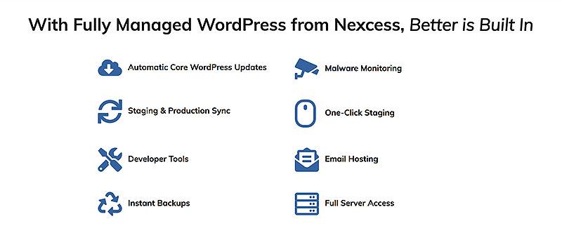 Nexcess wordpress features