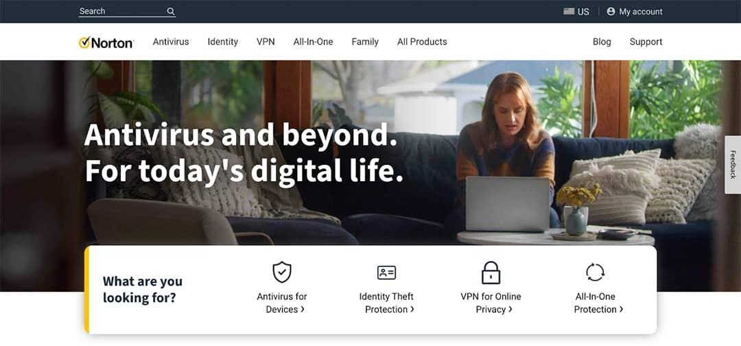 Norton Homepage