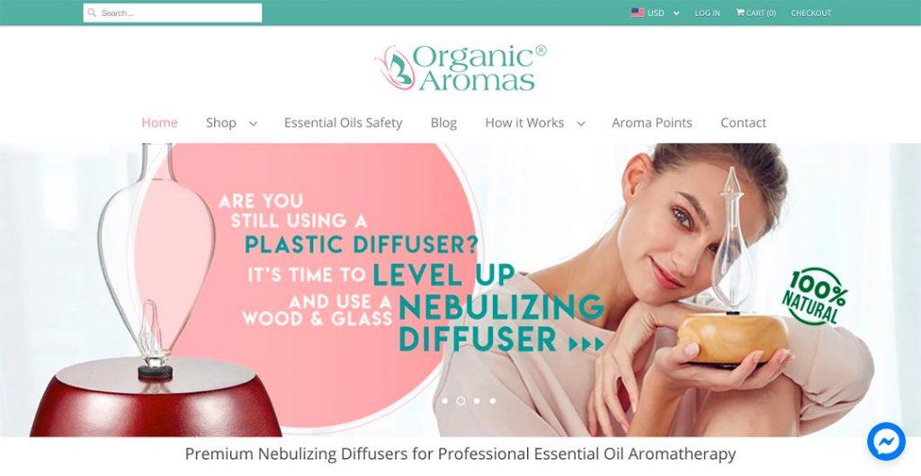 Organic Aromas Homepage