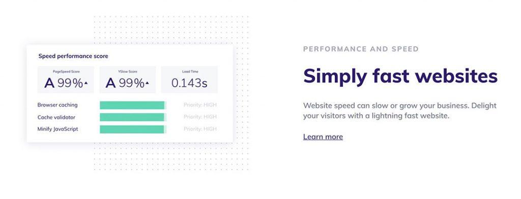 Speed performance for wordpress website