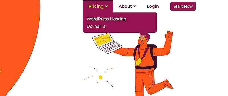 WPX WordPress menu