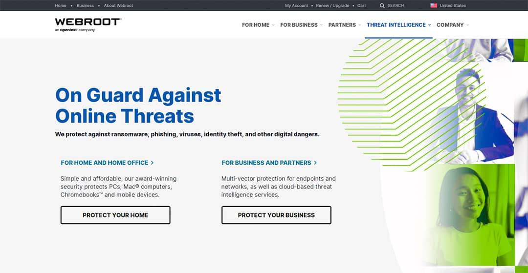 Webroot Homepage