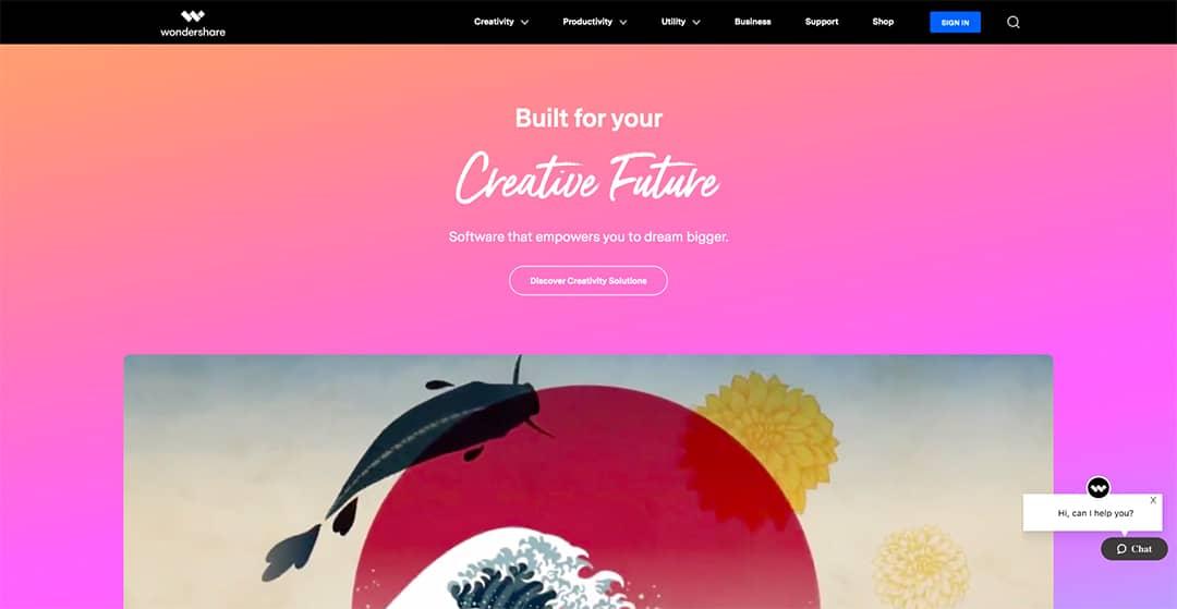 Wondershare Homepage