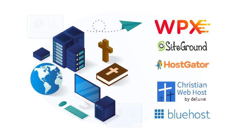 christian web hosting illustration