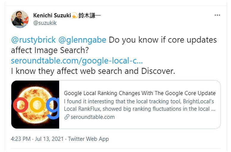 google search image tweet by kenichi