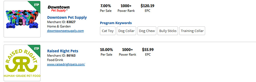 partners for dogs affiliate networks