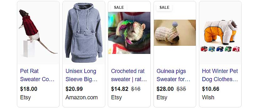 sweaters for rats search results