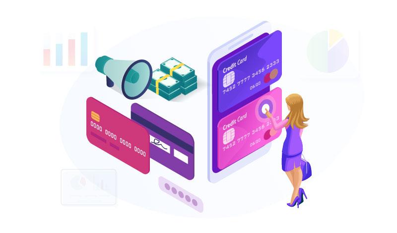woman paying throug hcredit card