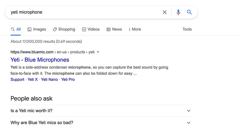 yeti microphone search