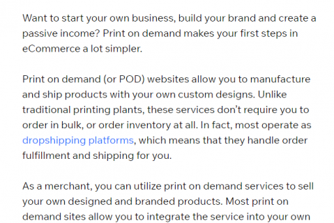 introduction on print on demand