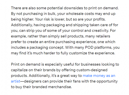 print on demand great for ecommerce businesses
