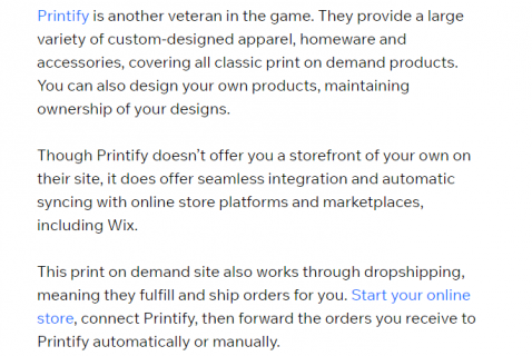 Create and sell custom products with Printify