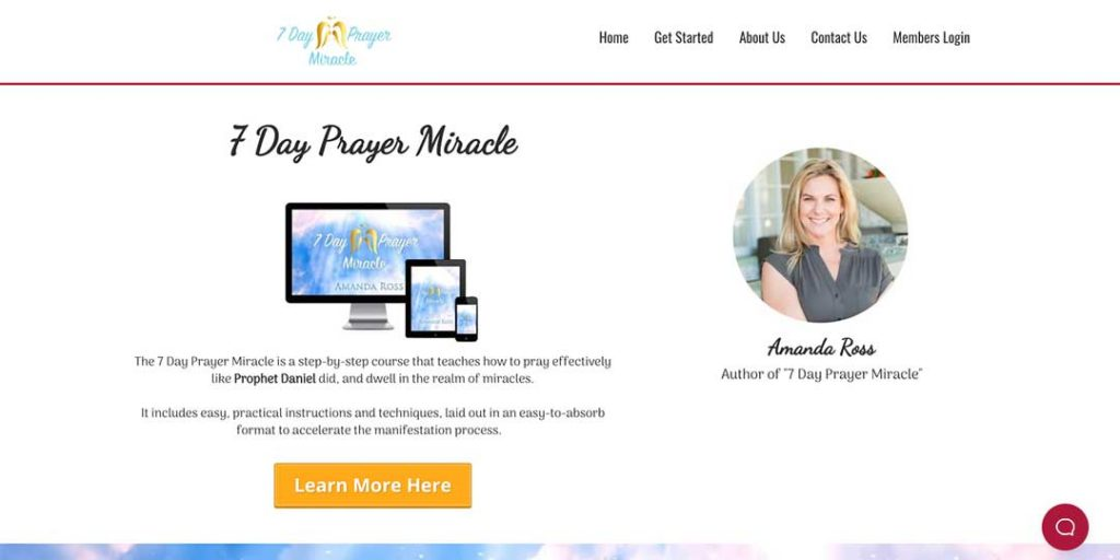 7 day miracle homepage