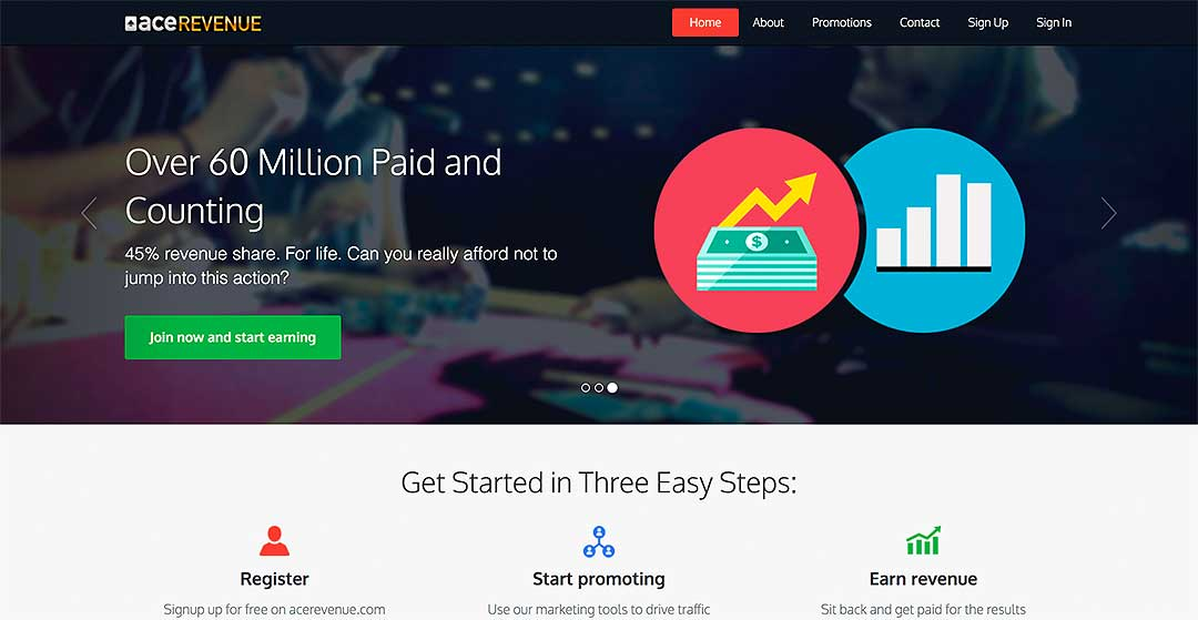 Ace Revenue Homepage