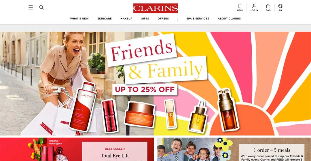 Clarins Homepage