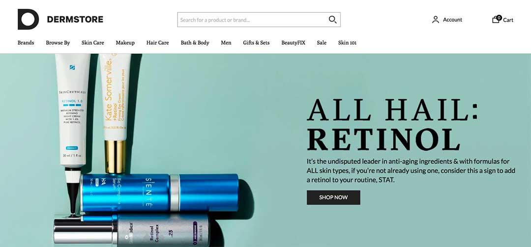 Dermstore Homepage