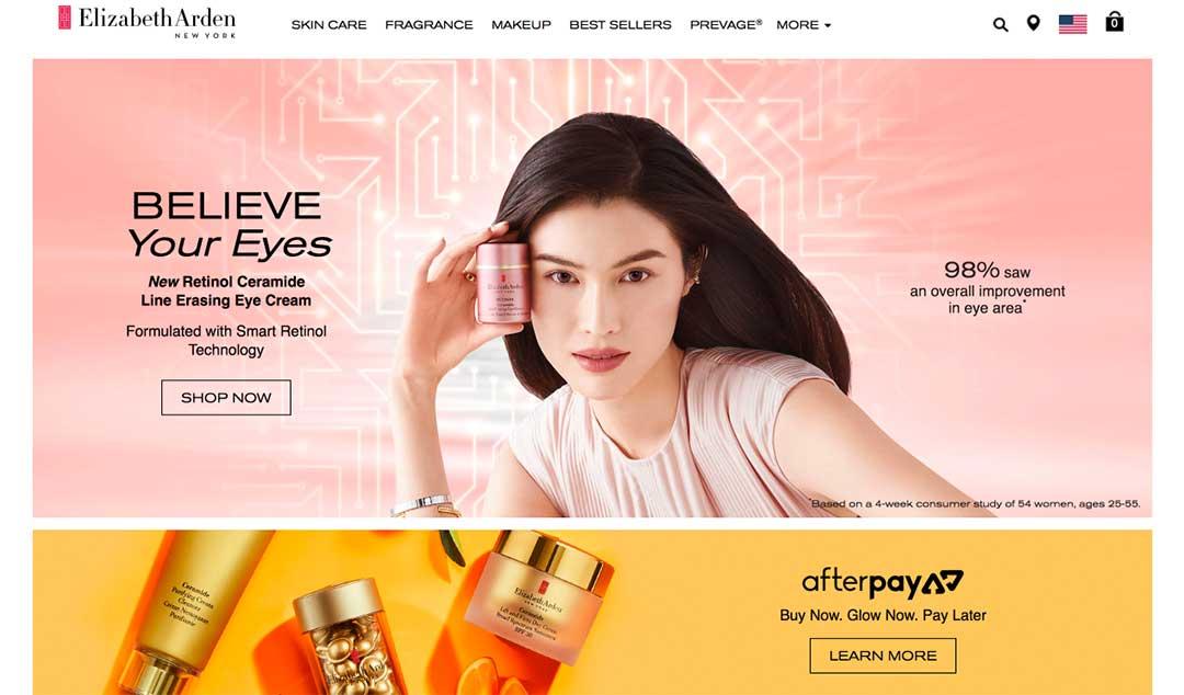 Elizabeth Arden Homepage