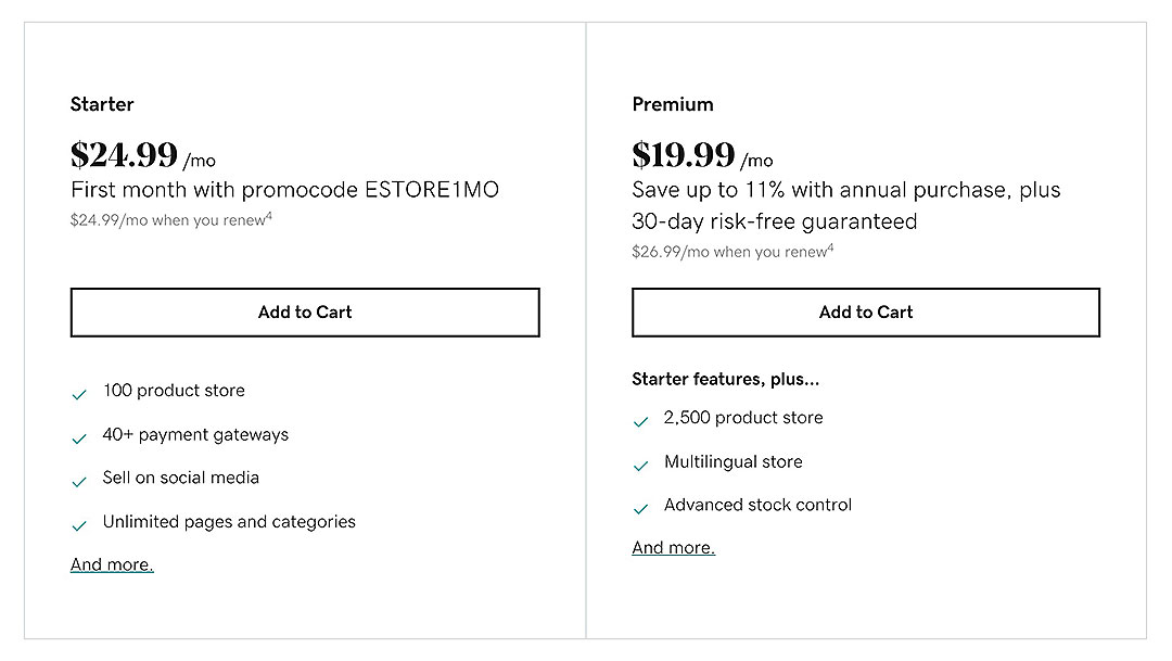 GoDaddy pricing guide