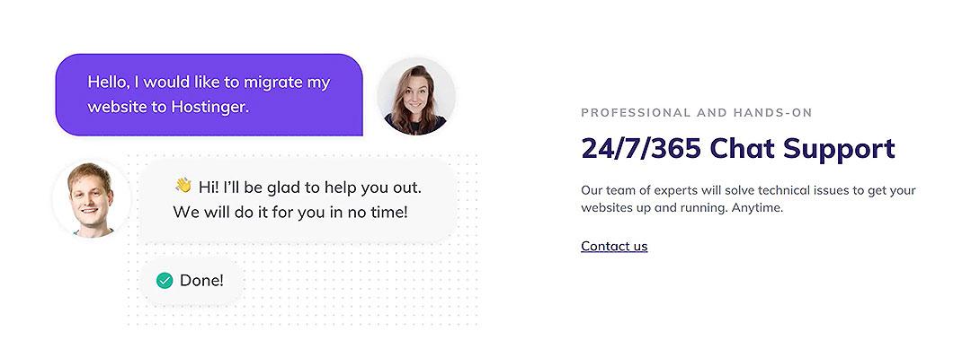 Good customer response hosting