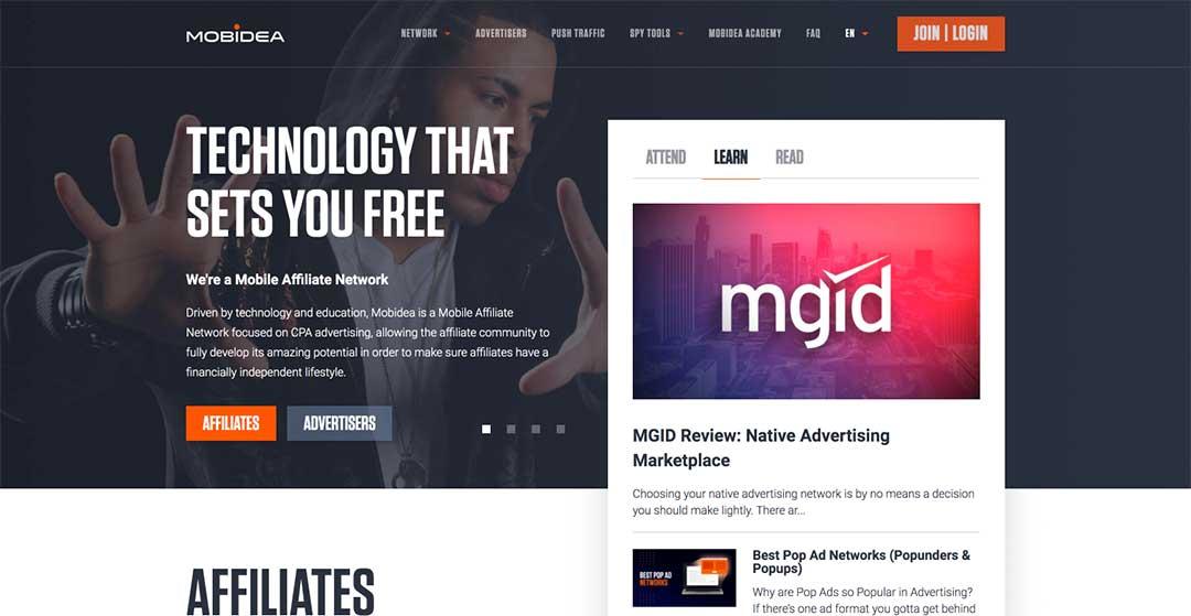 Mobidea Homepage