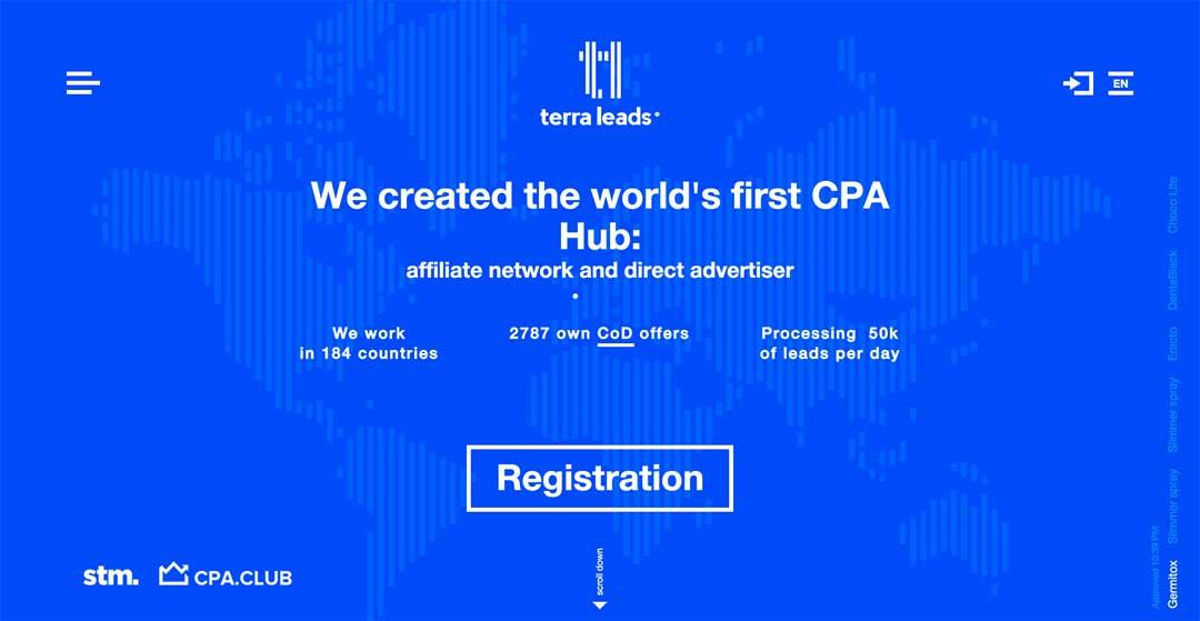Terra Leads Homepage