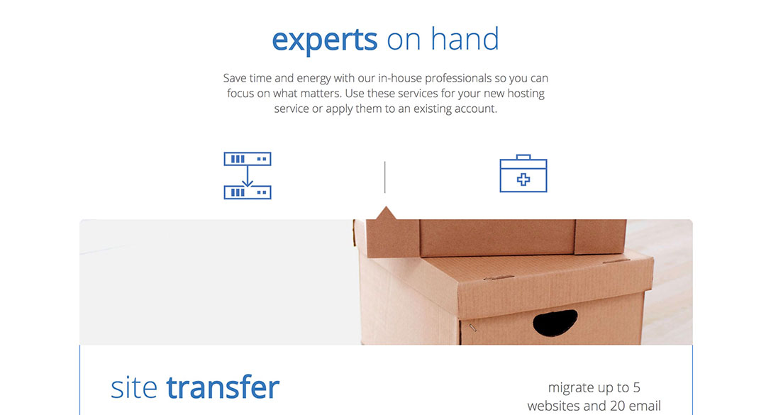bluehost site migration feature