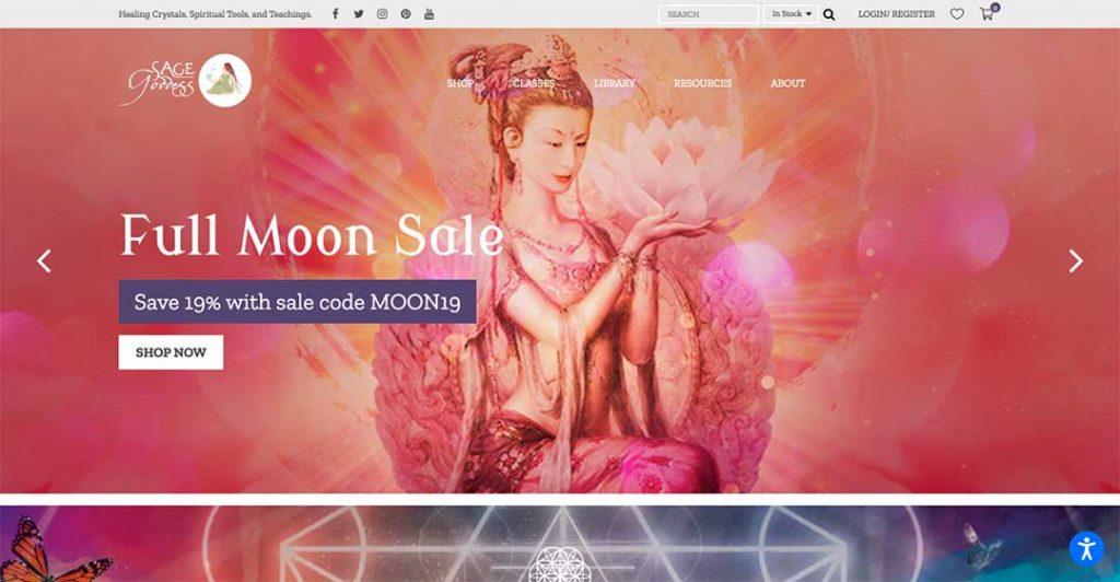 sage goddess homepage